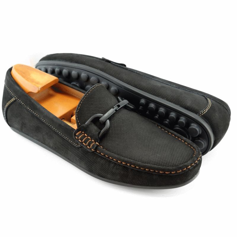 Alan Payne Como Bit Driving Loafers Black Image