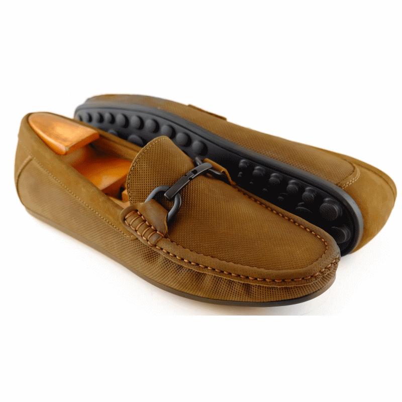 Alan Payne Como Bit Driving Loafers Rust Image