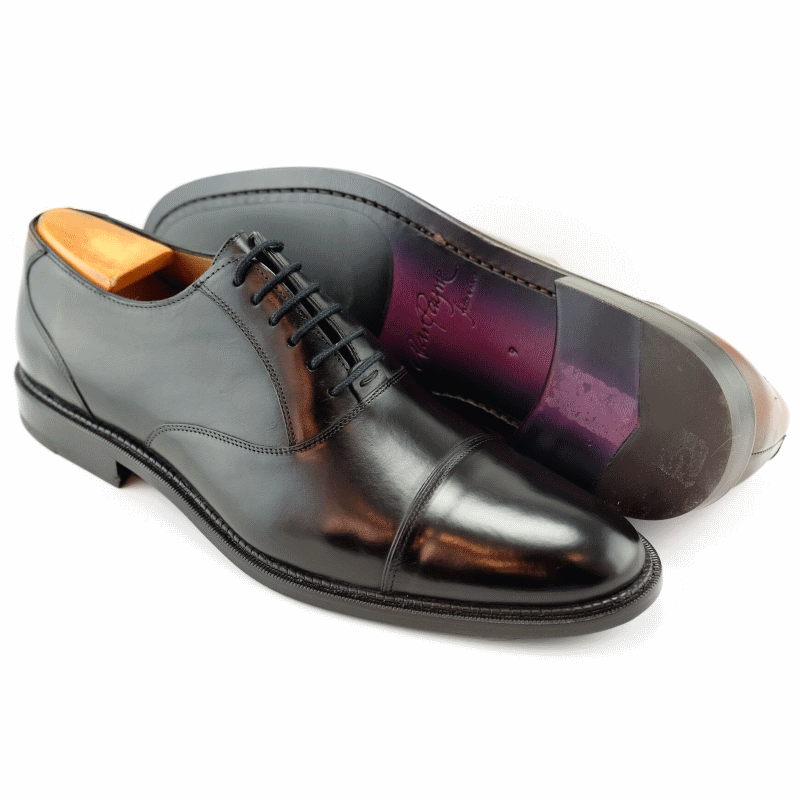 Alan Payne Conrad Cap Toe Oxfords Black Image