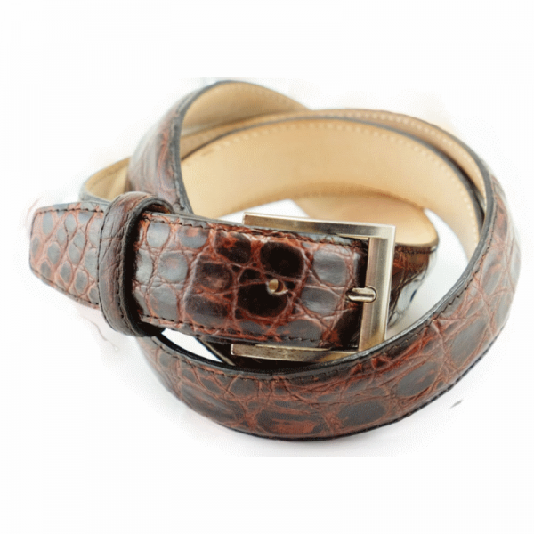 Alan Payne Crocodile Belt Antique Honey Image