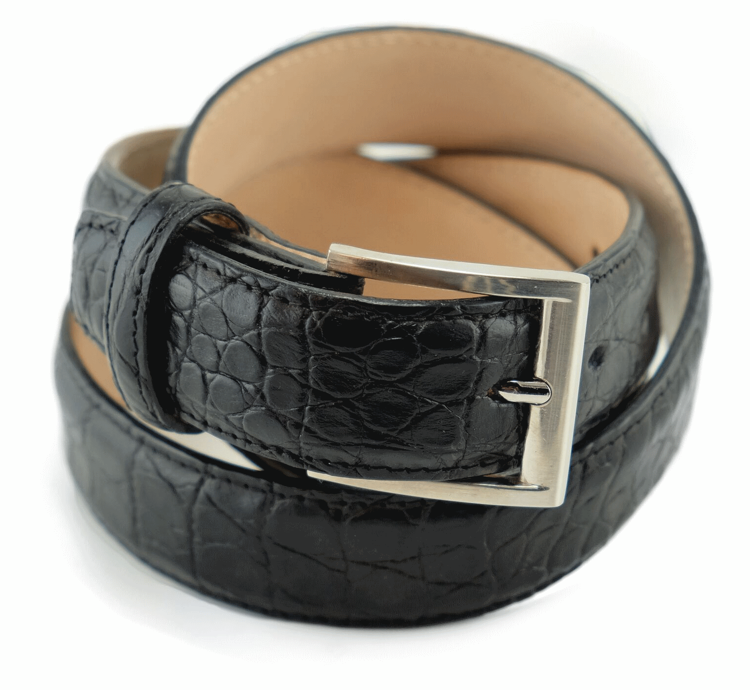 Alan Payne Crocodile Belt Black Image