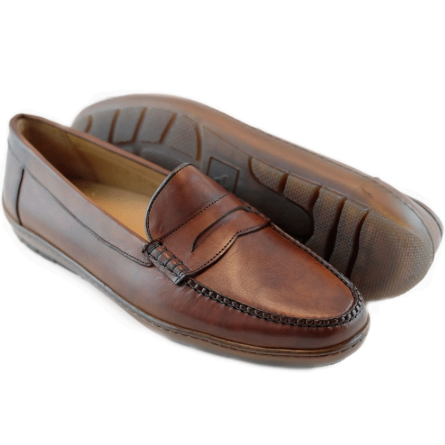 Alan Payne Edmond Calfskin Loafers Papaya Image