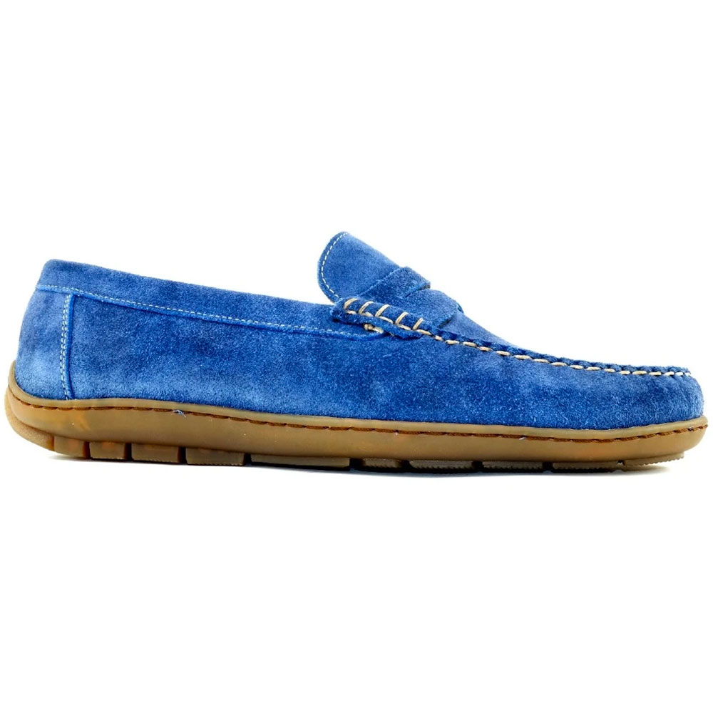 Alan Payne Edmond Suede Loafers French Blue Image