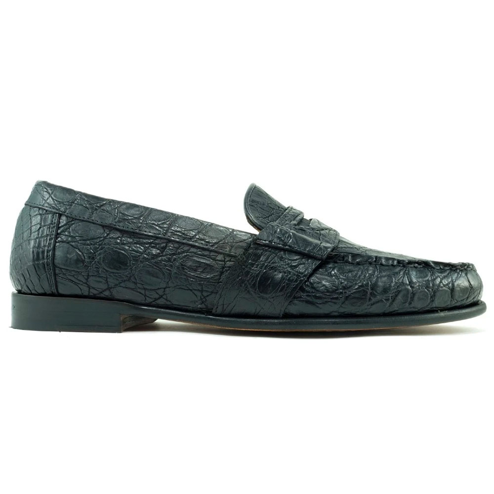 Alan Payne Franco Genuine Crocodile Loafers Black Image