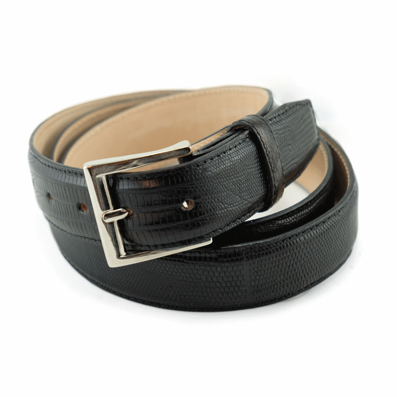 Alan Payne Lizard Belt Black Image