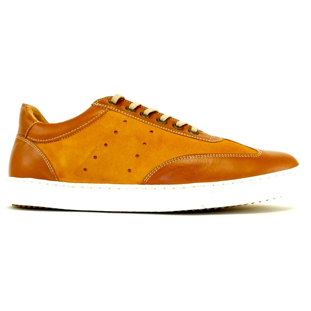 Alan Payne Mark Nubuck/Sheepskin Sneakers Brandy Image
