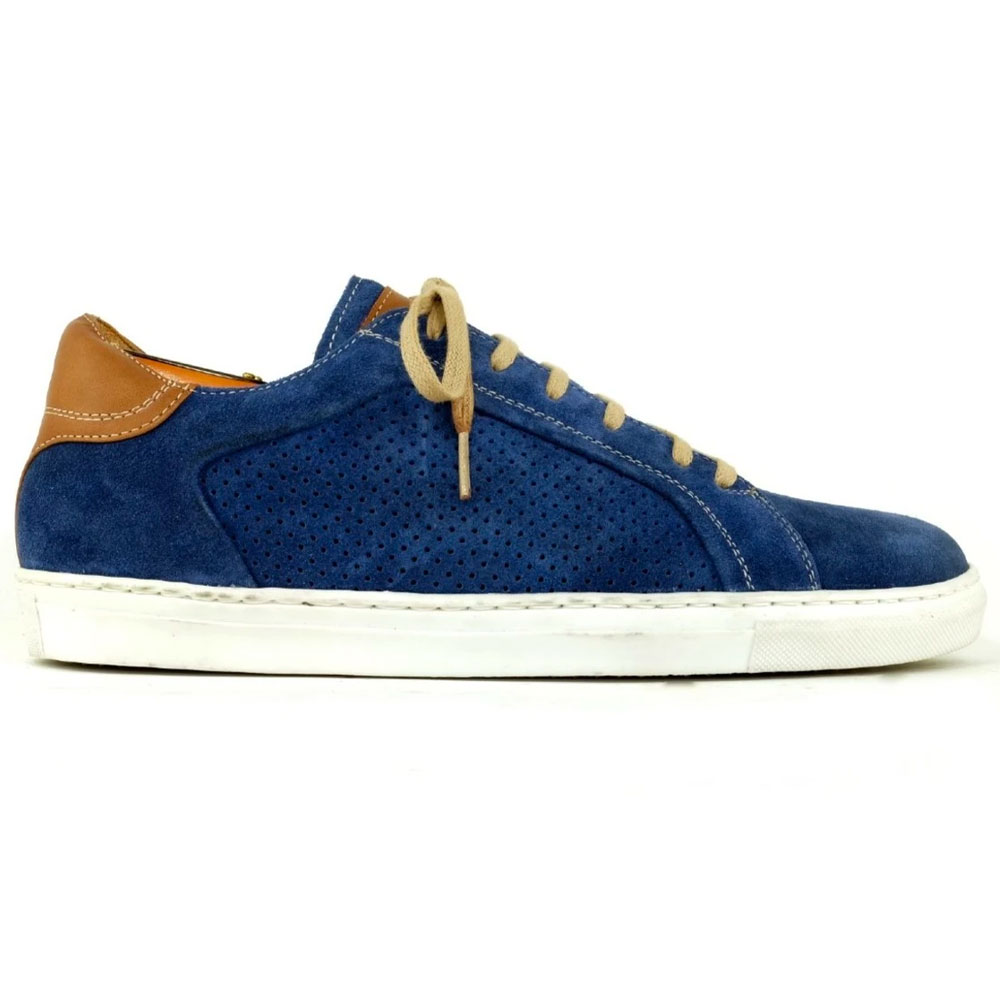 Alan Payne Martin Suede Sneaker French Blue Image