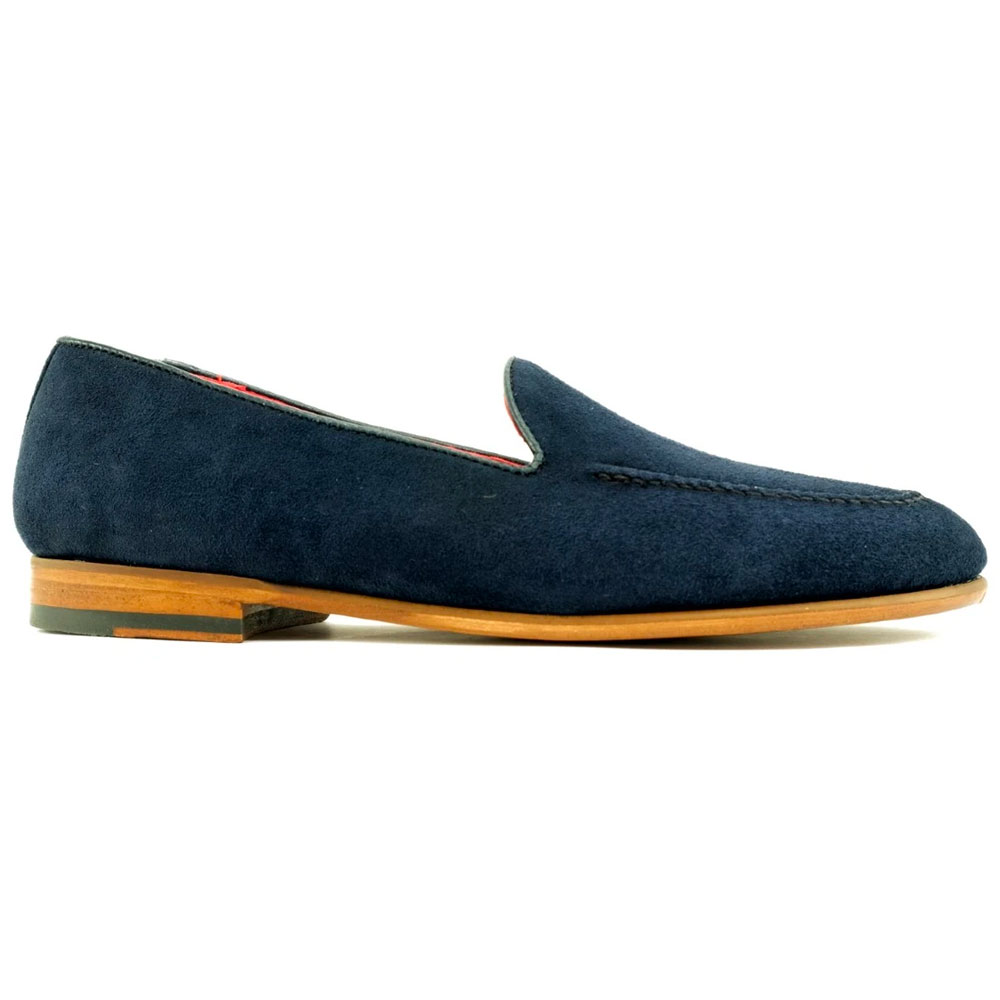Alan Payne Meyers Suede Loafers Navy Blue Image
