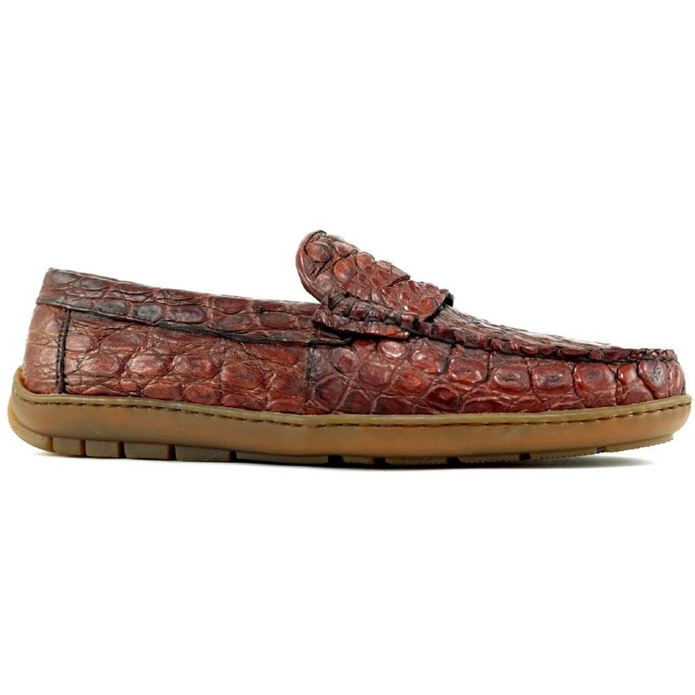 Alan Payne Norman Crocodile Loafers Honey Image