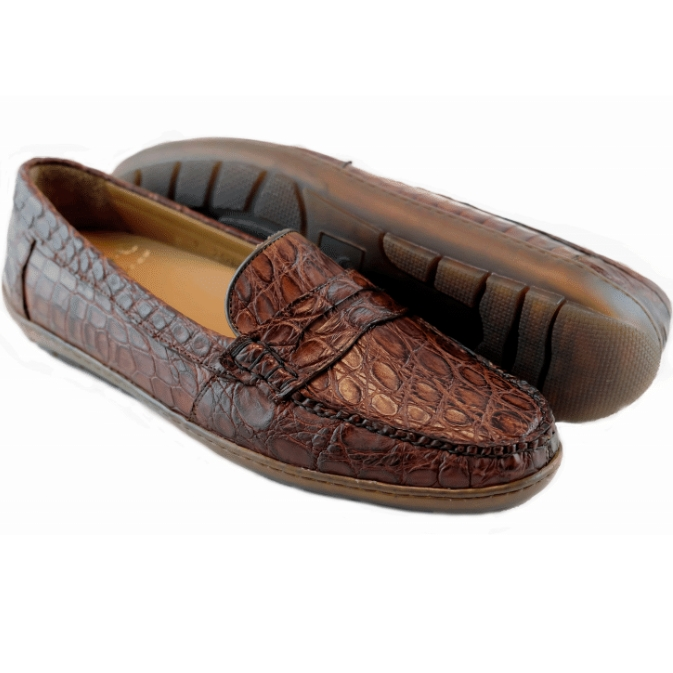 Alan Payne Norman Crocodile Loafers Sport Rust Image