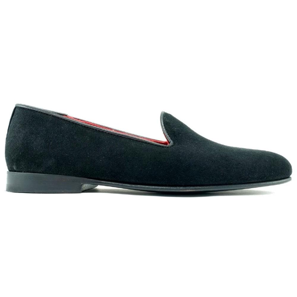 Alan Payne Simpson Formal Suede Loafers Black Image