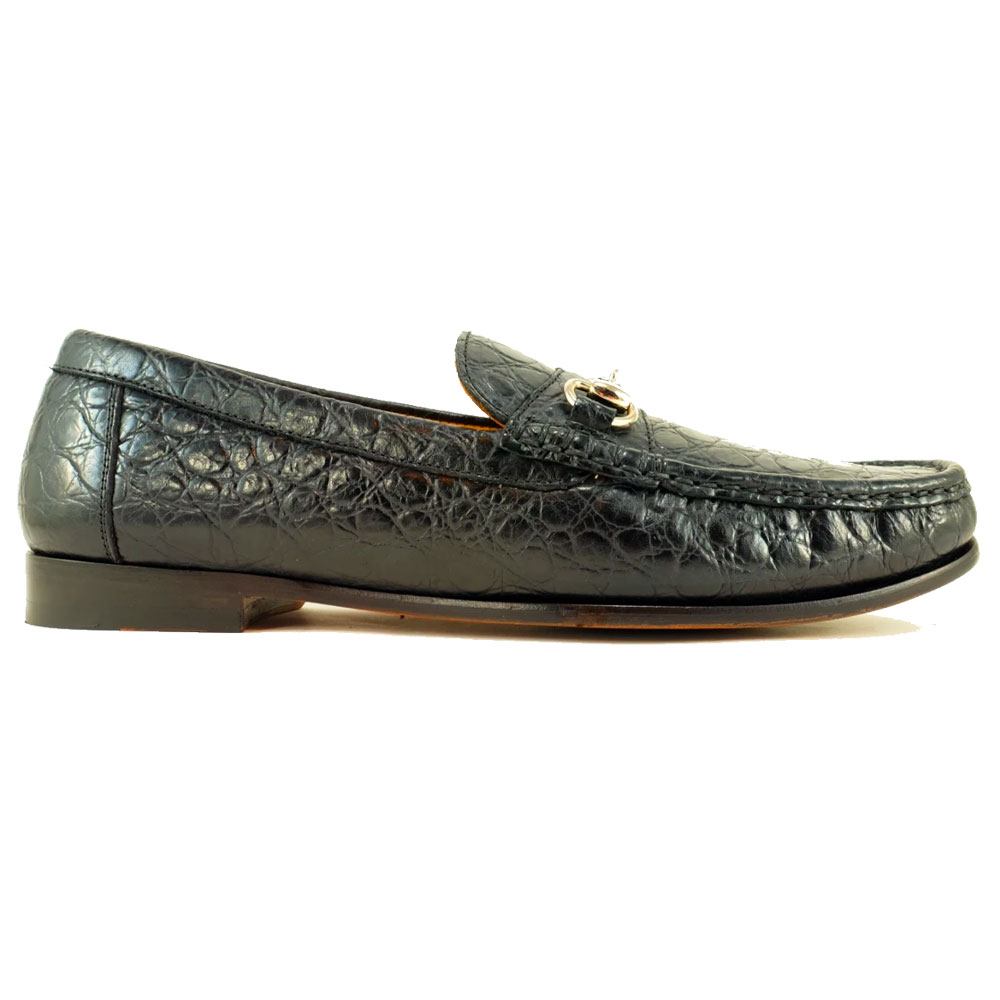 Alan Payne Snaffle II Calfskin Bit Loafers Black Image