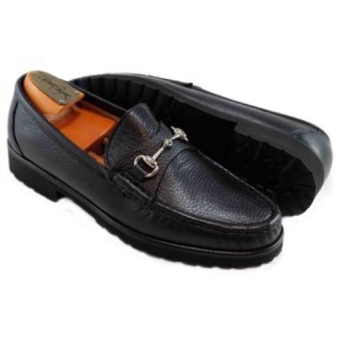 Alan Payne Walker II Deerskin Bit Loafers Black Image