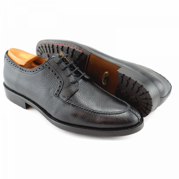 Alan Payne Wimbley Deerskin Split Toe Shoes Black Image