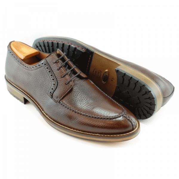 Alan Payne Wimbley Deerskin Split Toe Shoes Cognac Image