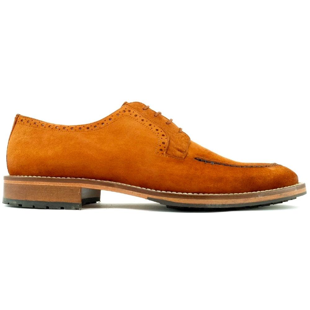 Alan Payne Wimbley Suede Split Toe Shoes Snuff Image
