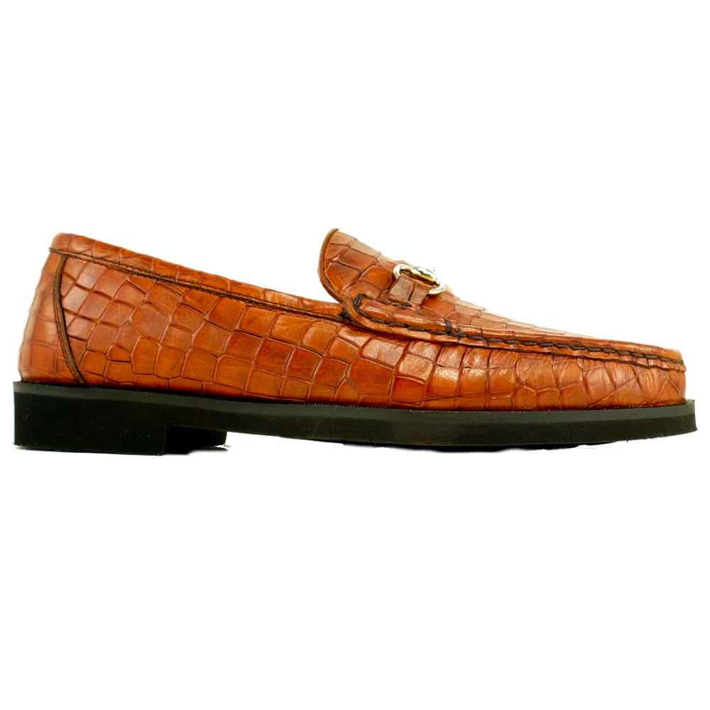 Alan Payne Windsor Calfskin Bit Loafers Brandy Image