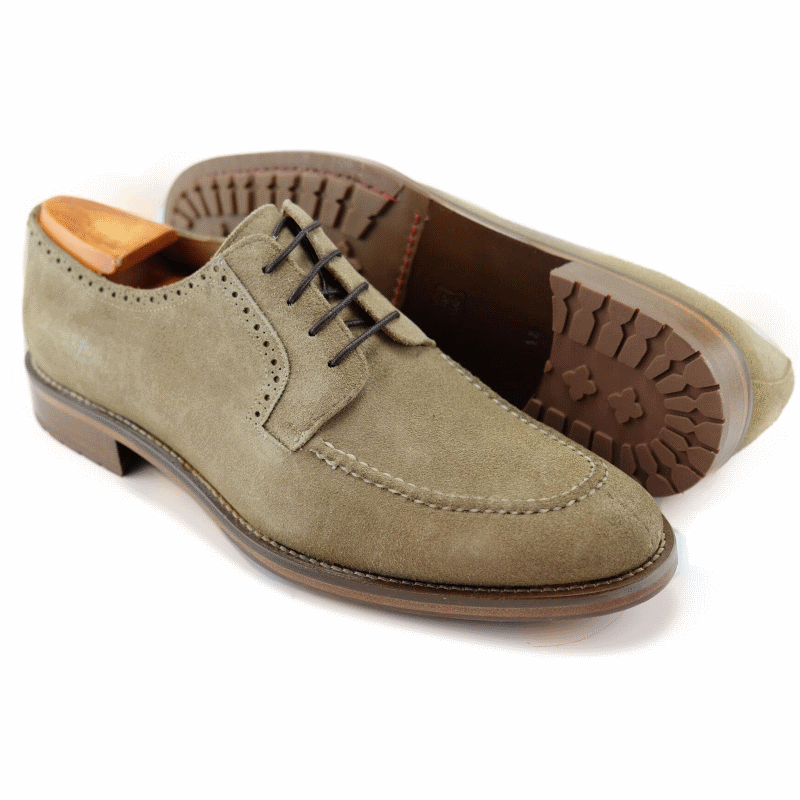 Alan Payne Winston Suede Split Toe Shoes Sand Image