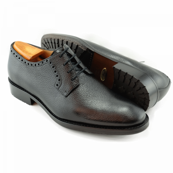 Alan Payne Woolf Deerskin Lace Up Shoes Black Image