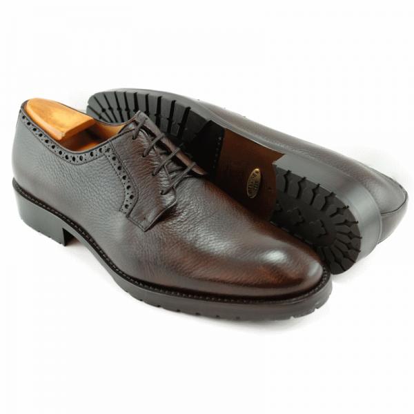 Alan Payne Woolf Deerskin Lace Up Shoes Tobacco Image