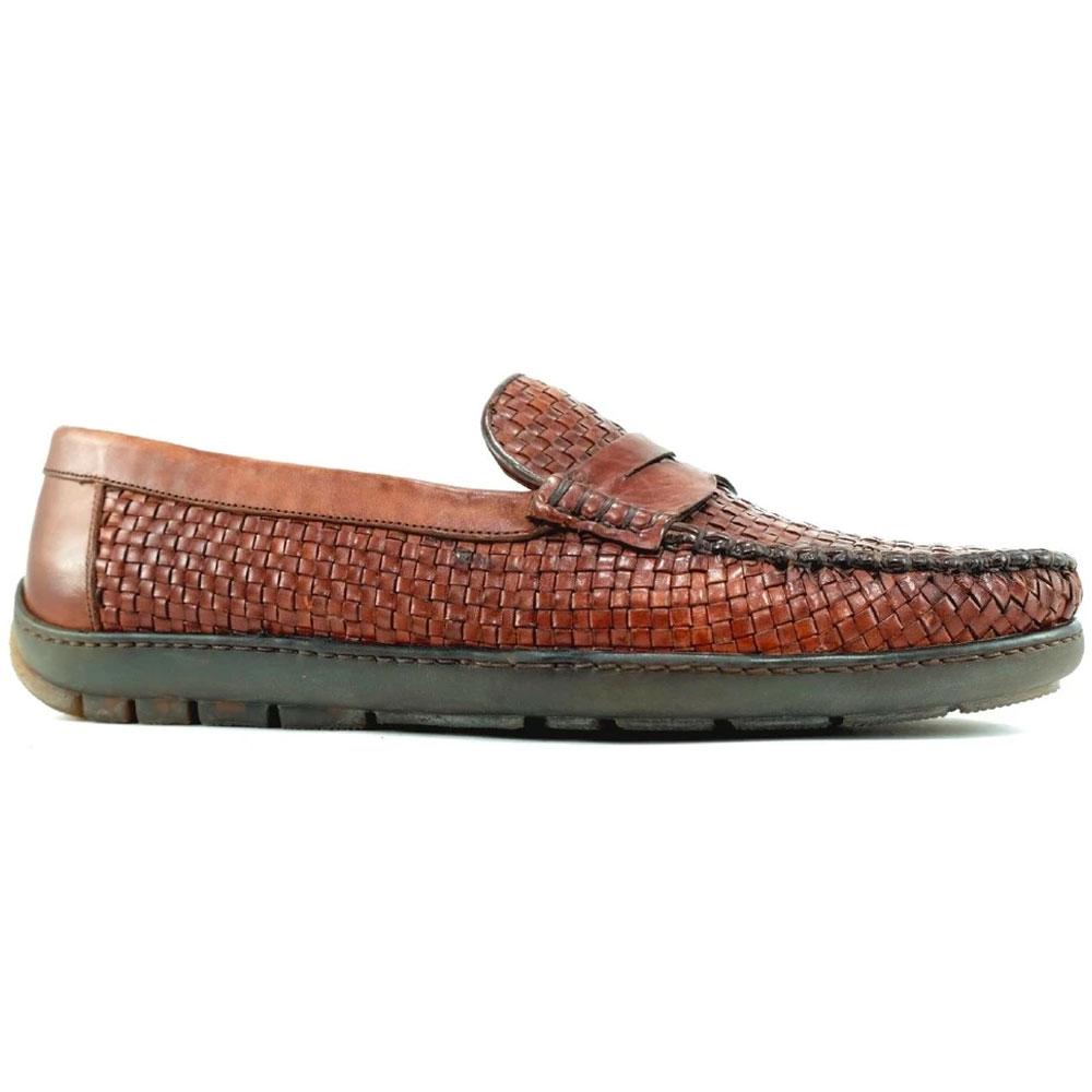 Alan Payne Tulsa Woven Loafers Cognac Image
