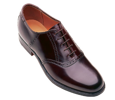 Alden Shell Cordovan Traditional Saddle Oxford In Burgundy