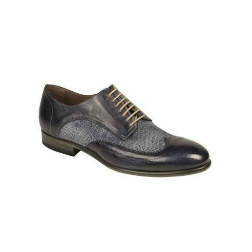 Bacco Bucci Agata Wingtip Spectator Shoes Blue Image