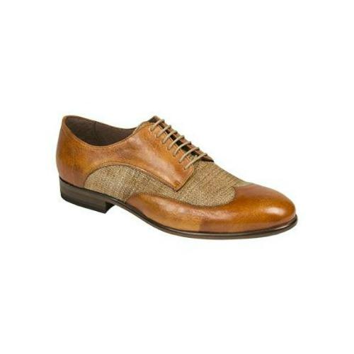 Bacco Bucci Agata Wingtip Spectator Shoes Tan Image
