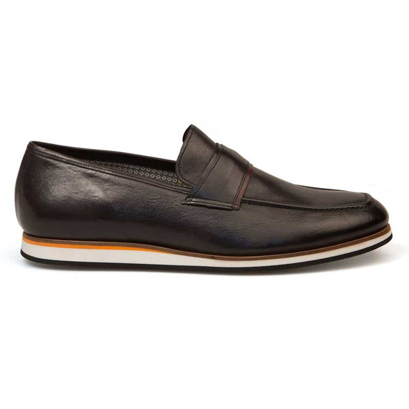 Bacco Bucci Alou Calfskin Shoes Black Image