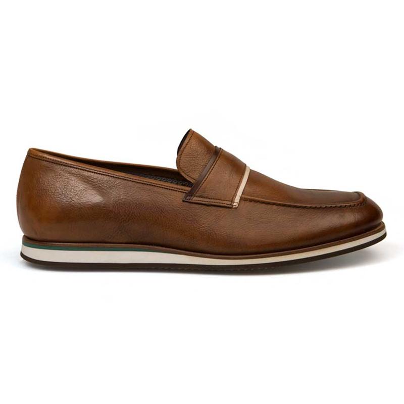 Bacco Bucci Alou Calfskin Shoes Tan Image