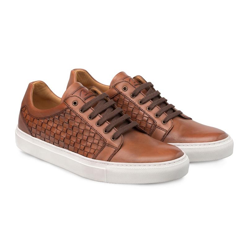 Bacco Bucci Asier Calfskin Sneaker Cognac Image