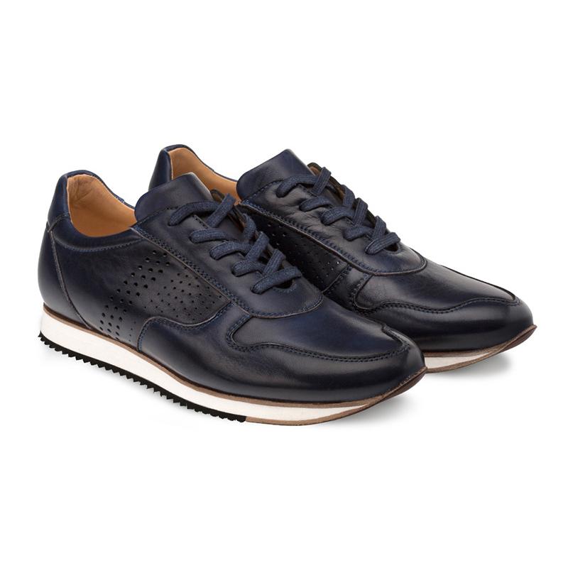 Bacco Bucci Berelli Calfskin Sneaker Blue Image