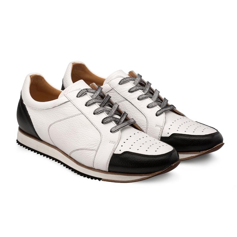 Bacco Bucci Camara Calfskin Sneaker Black / White Image