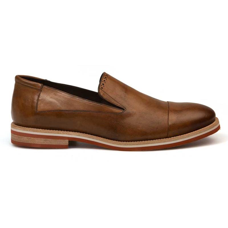 Bacco Bucci Diarra Calfskin Shoes Cognac Image