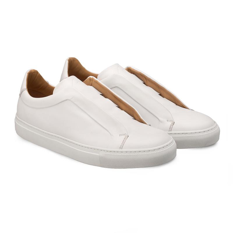 Bacco Bucci Dionisi Calfskin Sneaker White Image