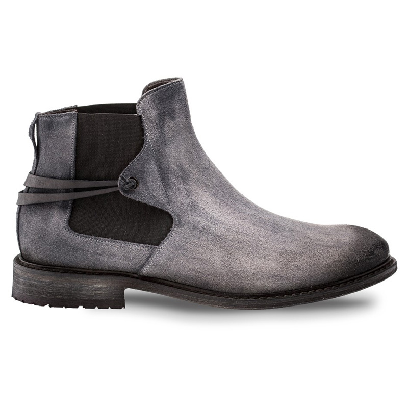 Bacco Bucci Emblid Suede Calfskin Boot Grey Black Image