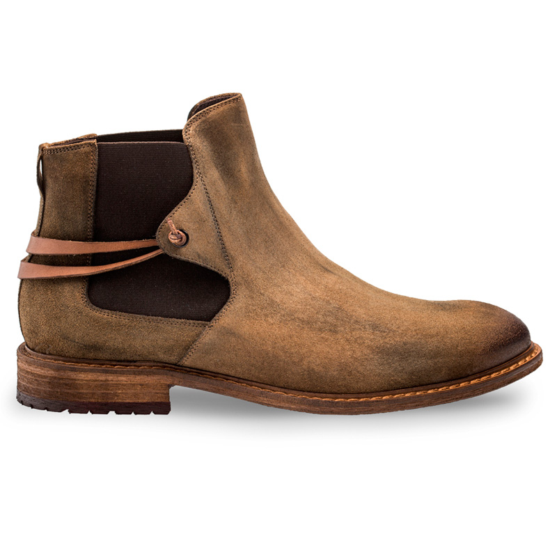 Bacco Bucci Emblid Suede Calfskin Boot Tan Brown Image