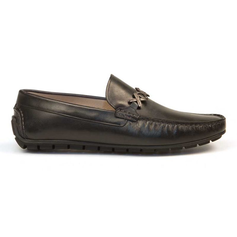 Bacco Bucci Guti Calfskin Loafers Black Image