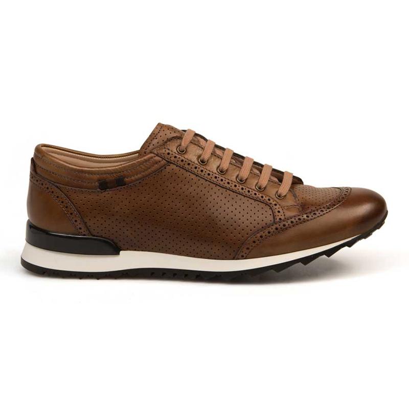 Bacco Bucci Julien Calfskin Sneakers Cognac Image