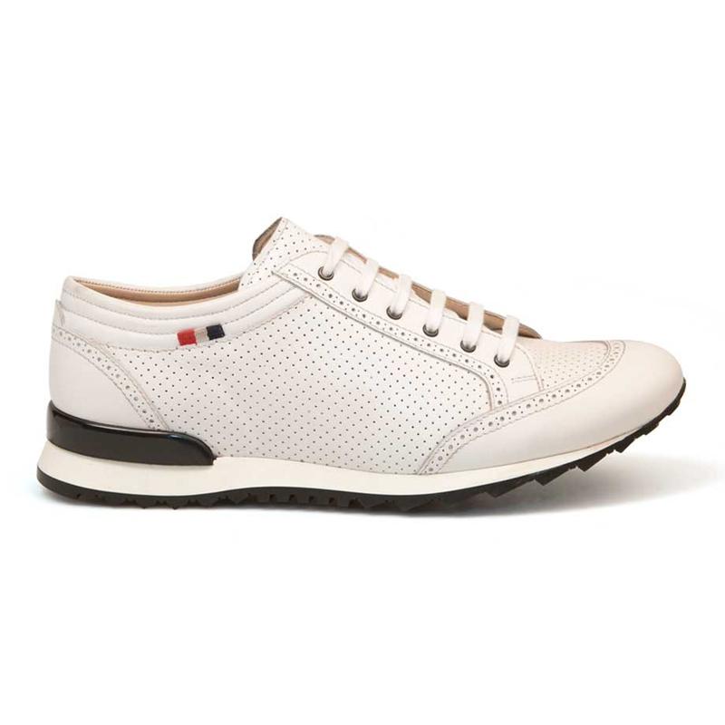 Bacco Bucci Julien Calfskin Sneakers White Image