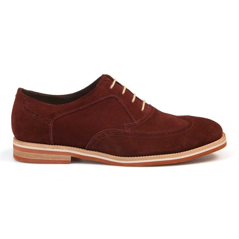 Bacco Bucci Lexington Suede Shoes Burgundy Image