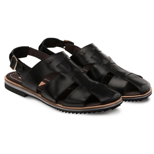 Bacco Bucci Orfei Calfskin Sandal Black Image