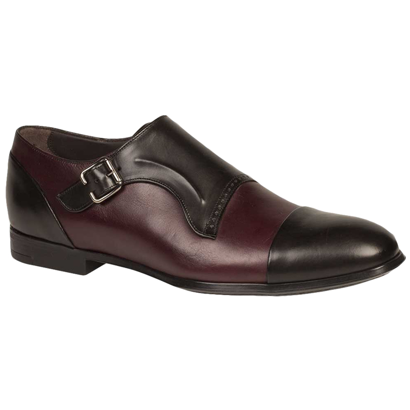 Bacco Bucci Pinelli Shoes Black Burgundy Image