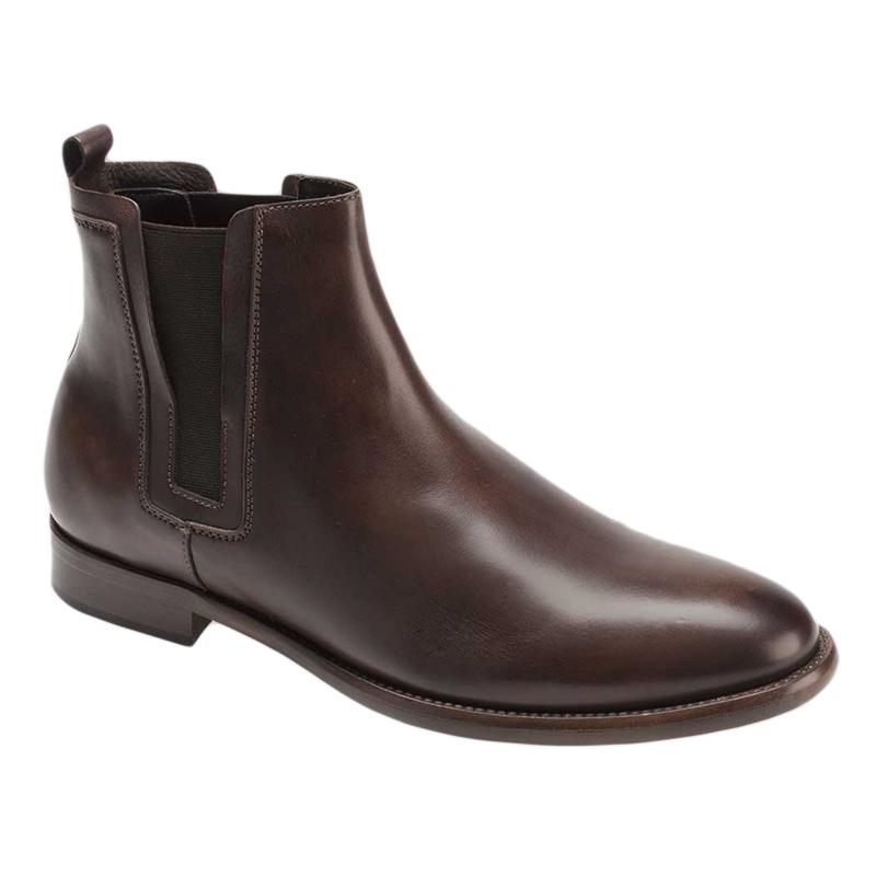 Bacco Bucci Pique Calfskin Boots Dark Brown Image