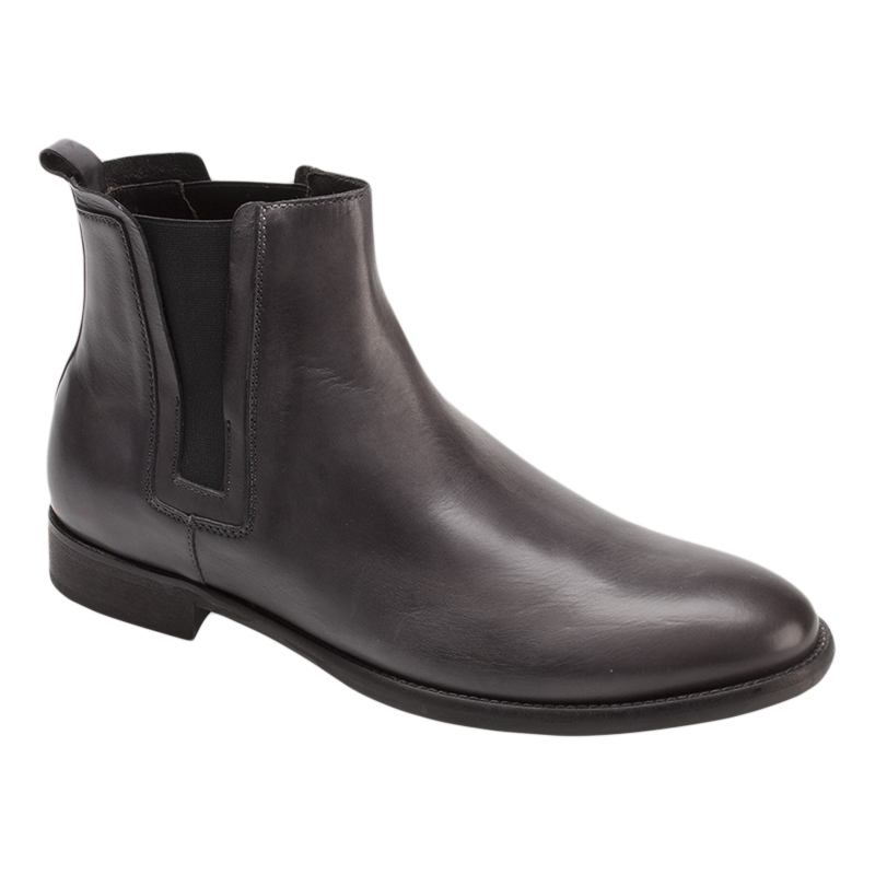 Bacco Bucci Pique Calfskin Boots Grey Image