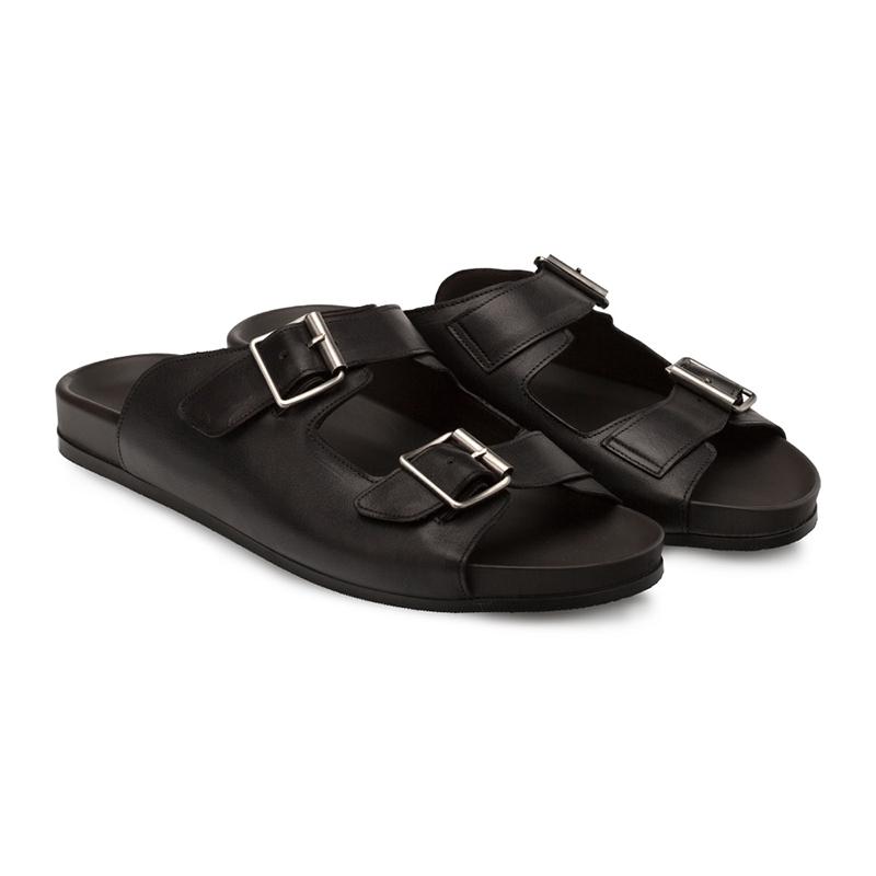 Bacco Bucci Pistilli Calfskin Sandal Black Image