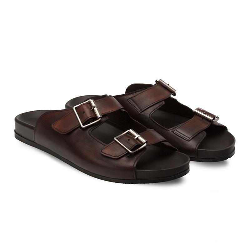 Bacco Bucci Pistilli Calfskin Sandal Brown Image
