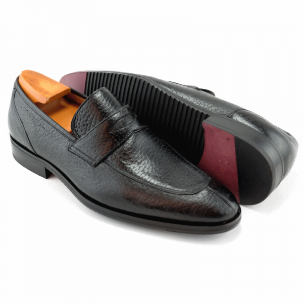 Baker Benjes Giles Peccary Penny Loafers Black Image