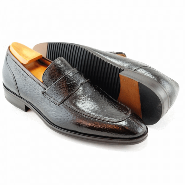 Baker Benjes Giles Peccary Penny Loafers Brown Image