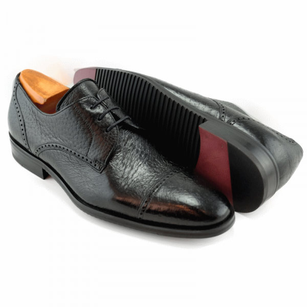 Baker Benjes Graves Peccary Brogues Black Image